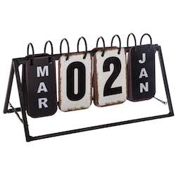 Calendrier perpétuel vintage métal réf. 30022055