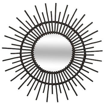 Miroir soleil rotin noir réf. 30022100