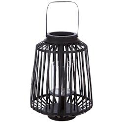 Lanterne déco rotin noir réf. 30022106