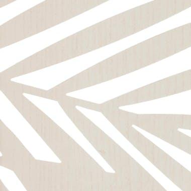 Paravent déco bois blanc feuilles palmier réf. 30022133