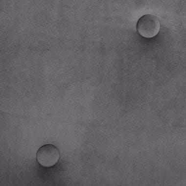 Fauteuil en velours gris réf. 30022134