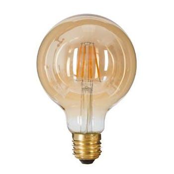 Ampoule globe LED ambré D8xH12cm