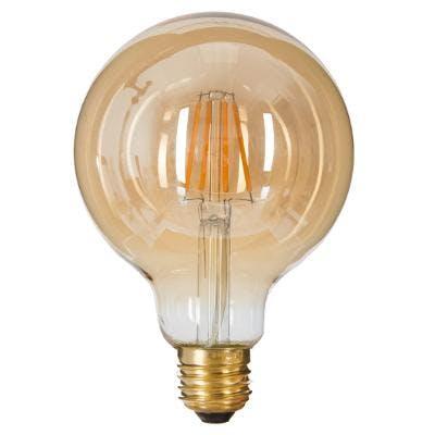 Ampoule globe LED ambré D9xH13cm