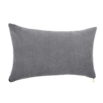 Coussin rectangle gris 30x50cm