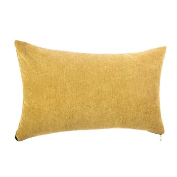 Coussin rectangle ocre 30x50cm