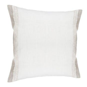 Coussin lin coton blanc 40x40cm