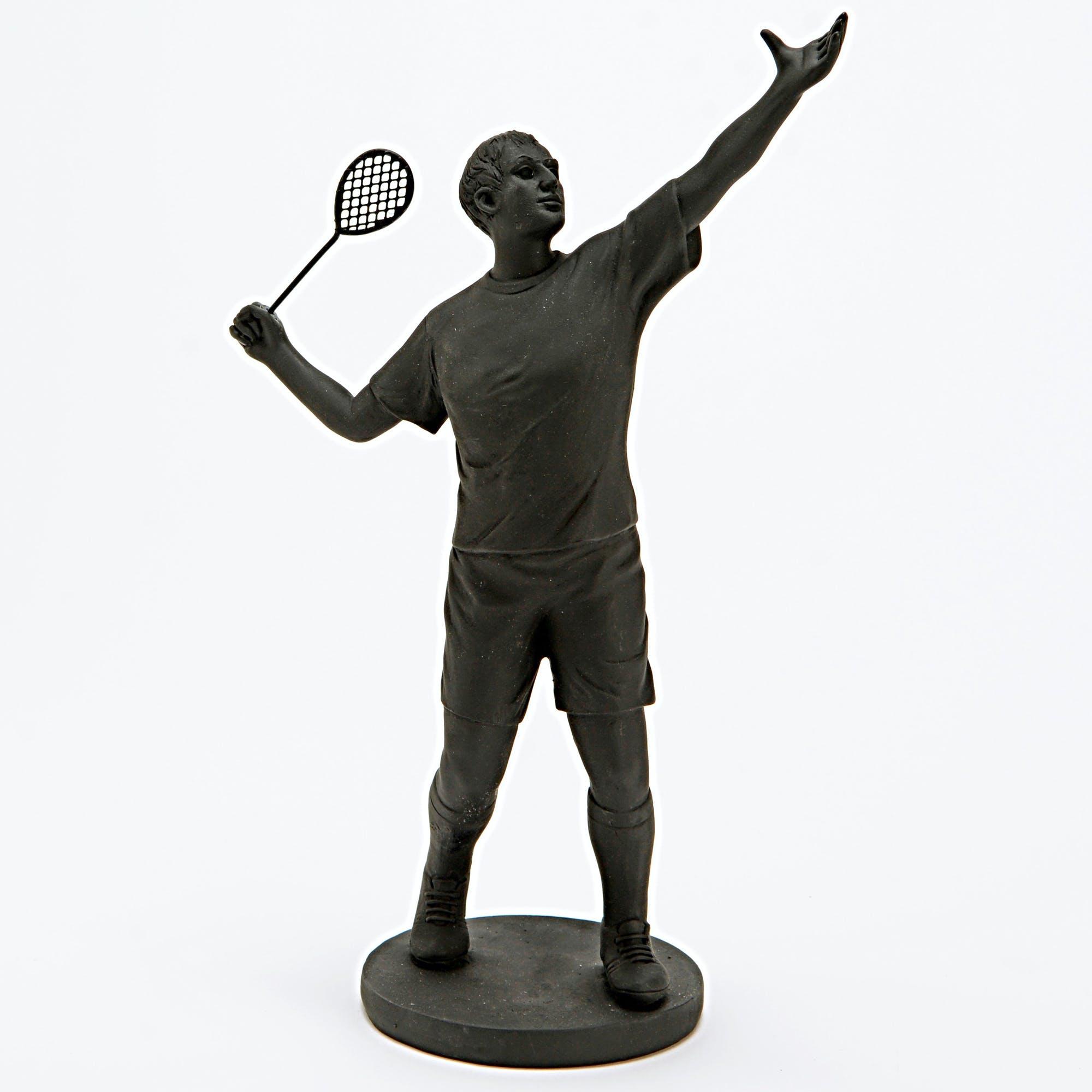 Statuette tennisman H25cm