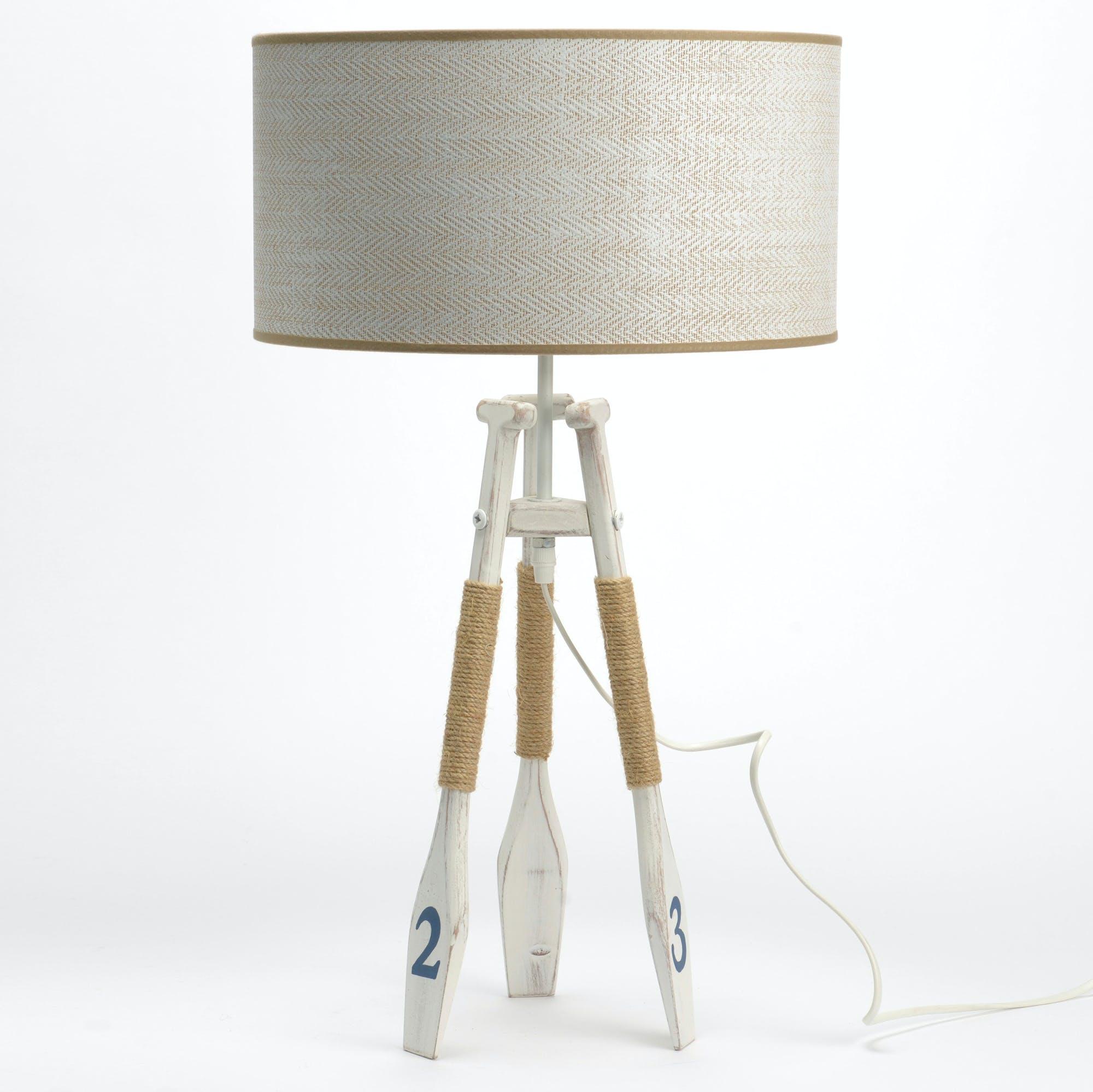 Lampe à poser bord de mer H68cm BRISTOL