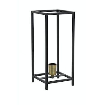 Lampe lanterne contemporaine métal noir mat grand modèle