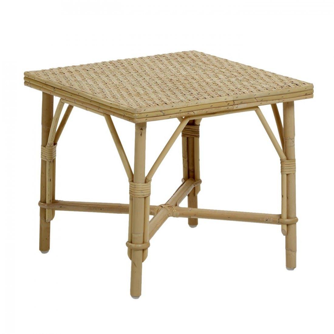 Petite table basse carrée rotin naturel Grand-mère KOK