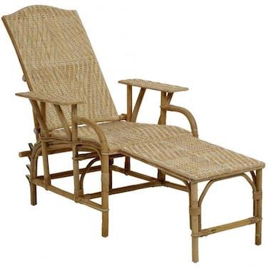 Chaise longue rotin naturel grand-mère KOK