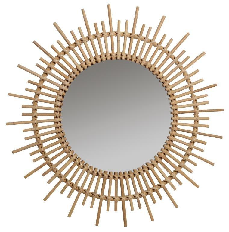 Miroir en Canne naturelle Planete KOK