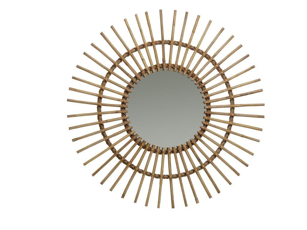 Miroir en Canne naturelle Soleil KOK