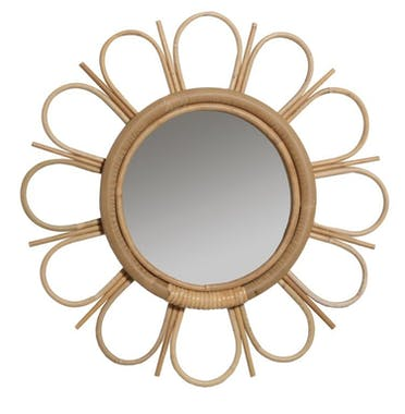Miroir en Canne naturelle Marguerite KOK