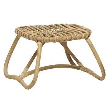 Table basse pouf Canne naturelle Boucle 49cm KOK