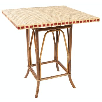 Guéridon table rotin tressé ref. 30020925