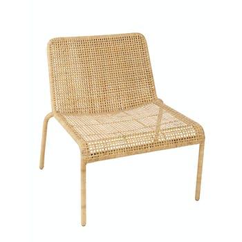 Chauffeuse fauteuil rotin naturel tressé ref. 30020929