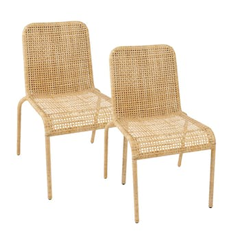 Lot de 2 Chaises rotin naturel tressé ref. 30020931