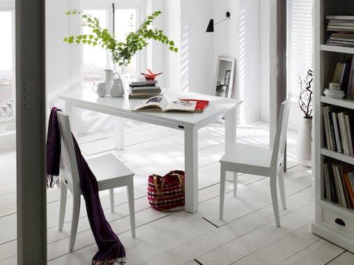 Chaise en bois blanc acajou 96x51cm ROYAN