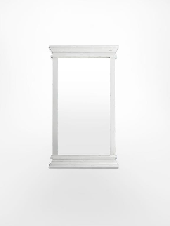 Miroir rectangulaire haut en bois blanc acajou 120x70cm ROYAN