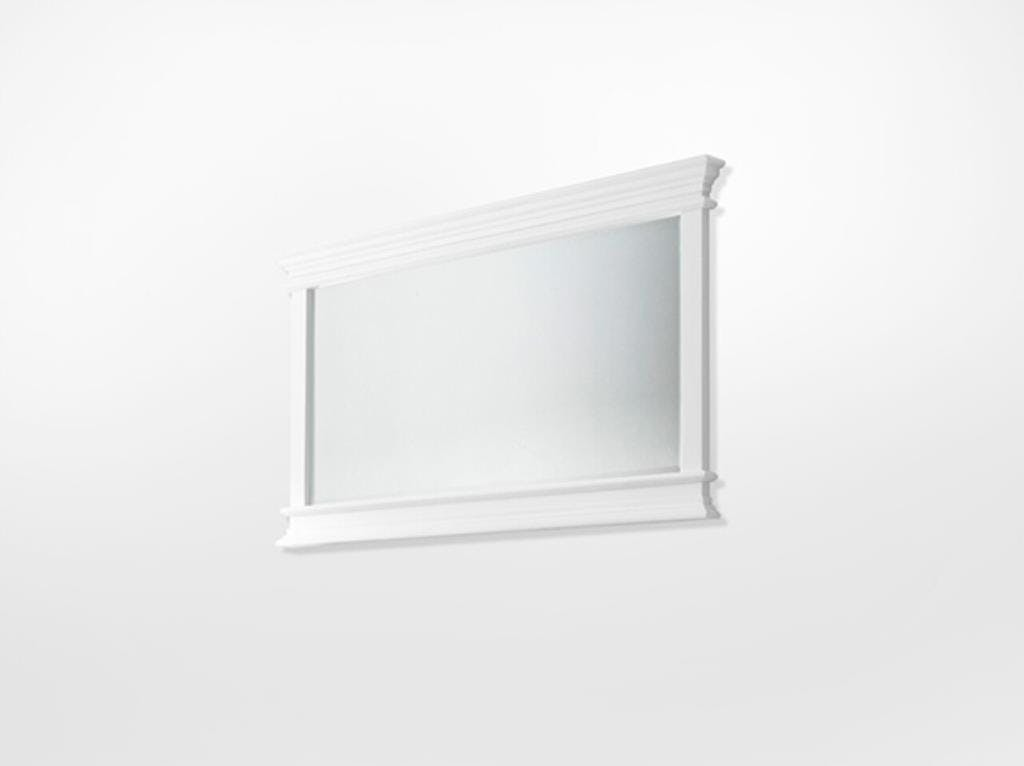 Miroir rectangulaire en bois blanc acajou 70x120cm ROYAN