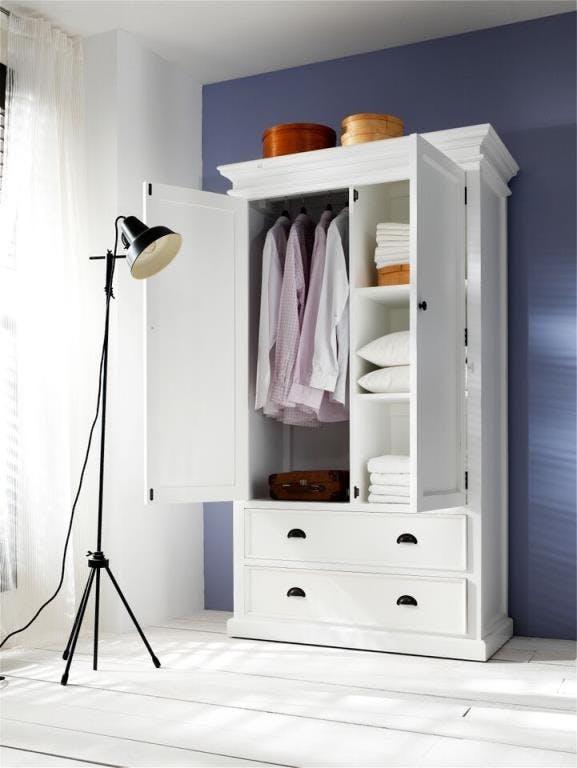 Armoire blanche bois d'acajou ROYAN
