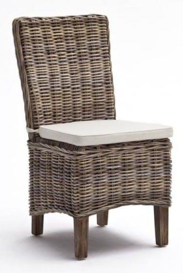 Chaise de salle à manger en rotin avec coussin 51x98cm ROYAN