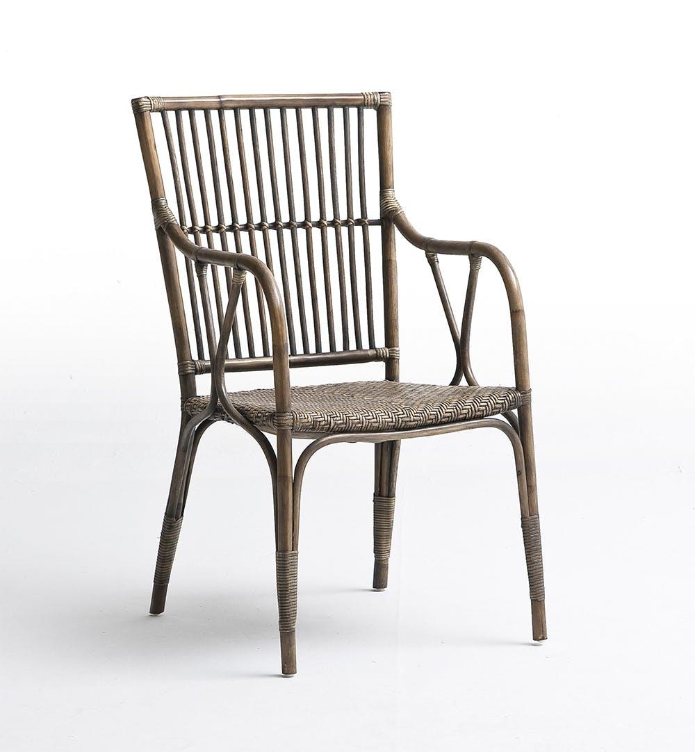 Chaise moderne en rotin avec accoudoirs 58x102cm ROYAN