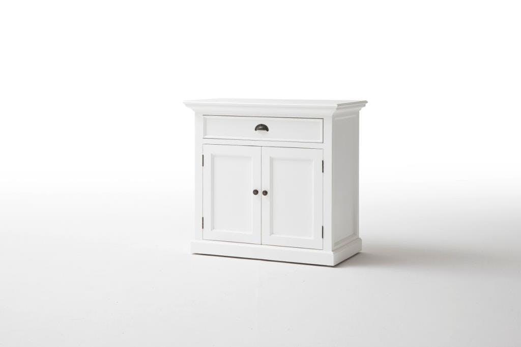 Buffet bas bois blanc 1 tiroir 2 portes acajou 90x85cm ROYAN