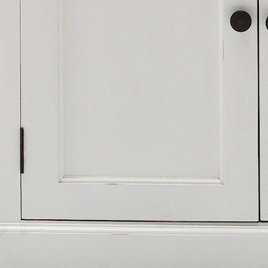 Lit enfant bois blanc acajou 90x215cm ROYAN