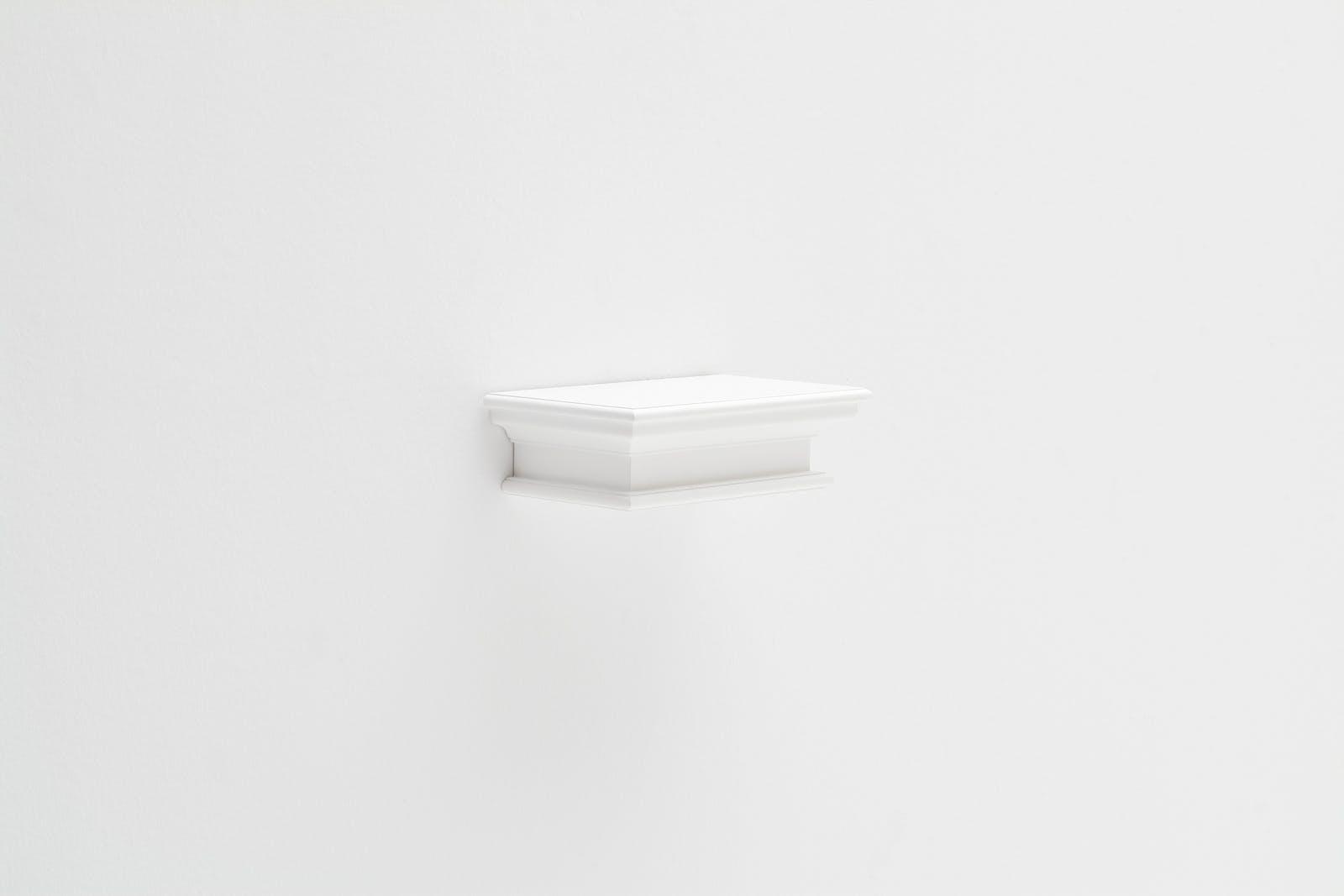 Etagère flottante moderne bois blanc acajou L40xP23cm ROYAN