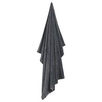 Plaid noir chiné 130x160cm