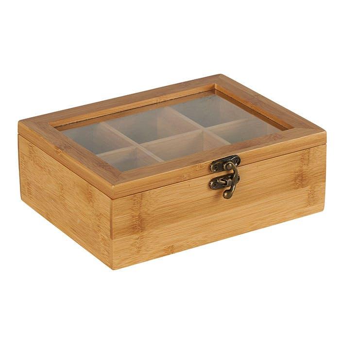 Boîte bambou 6 compartiments