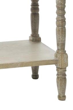 Table de chevet bois naturel patiné grisé blanchi un tiroir L48xP40xH74cm PAOLIA