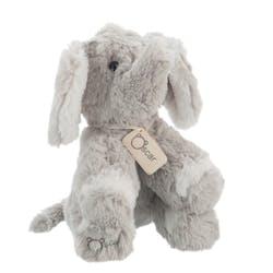 Peluche éléphant gris H18cm