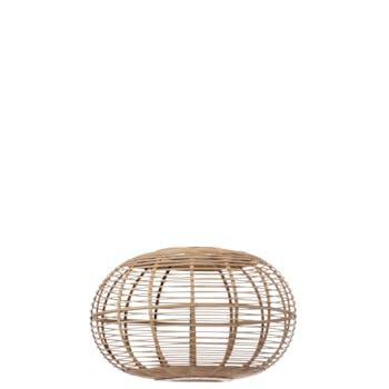 Abat-jour cage en bambou naturel, 56x56x34cm