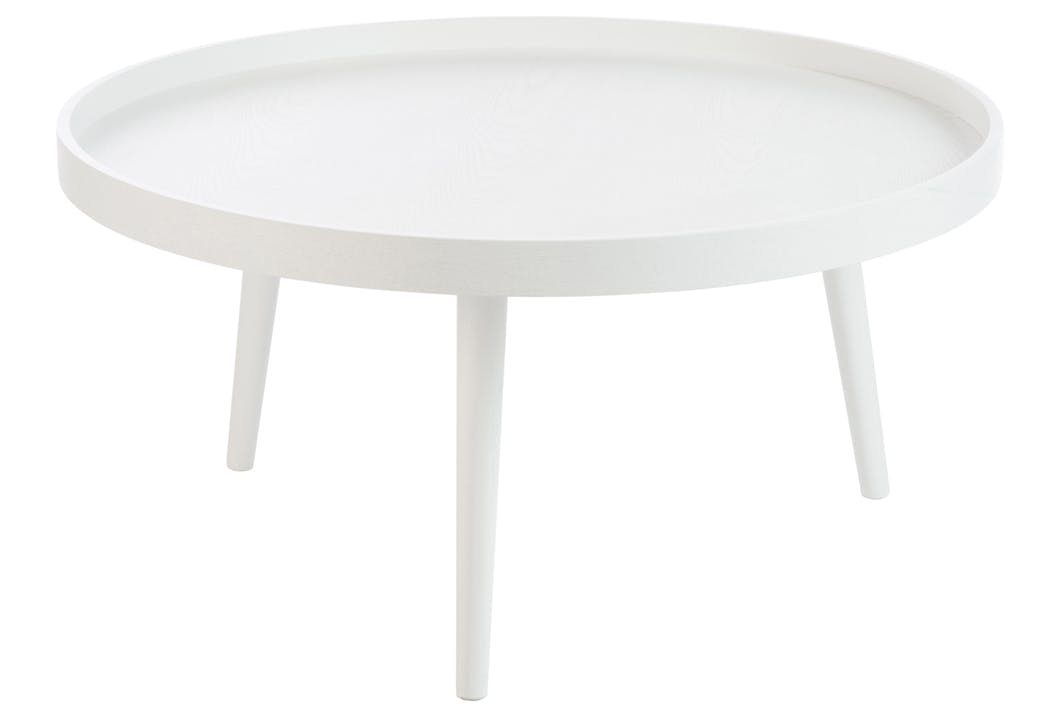 Bout de canapé / table d'appoint ronde en bois avec rebord, D90xH45cm