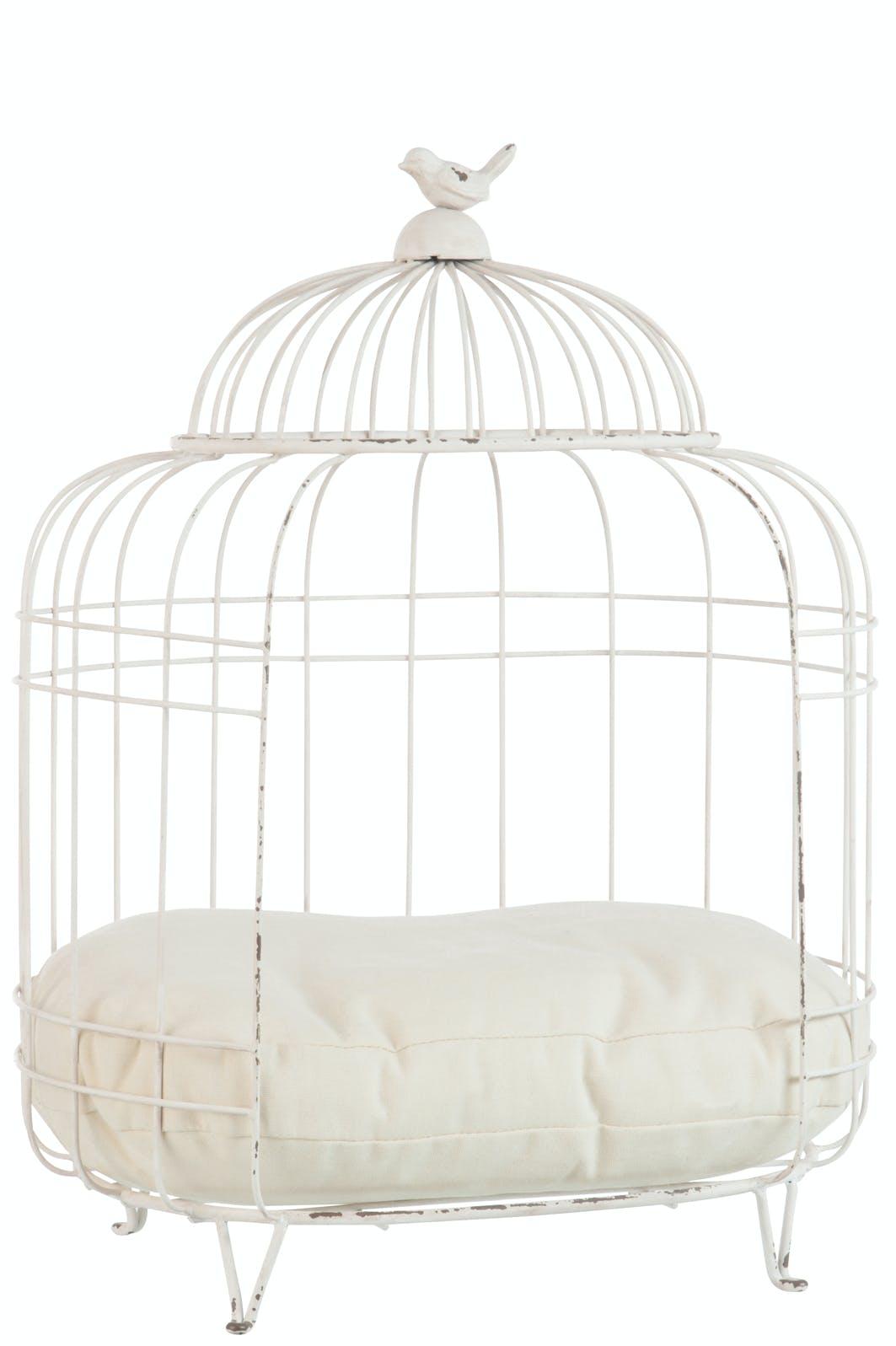 Cage lit pour animal avec coussin, 51x36x64cm