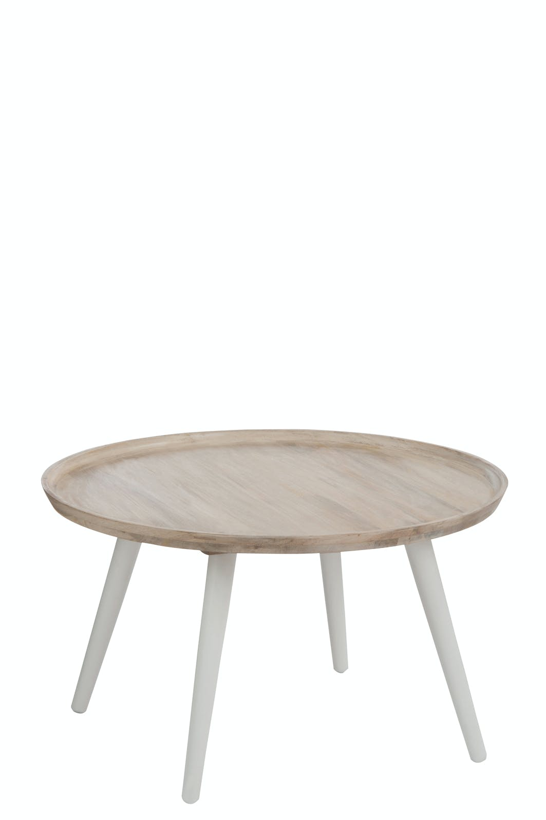 Table d'appoint ronde en manguier - D80xH45cm