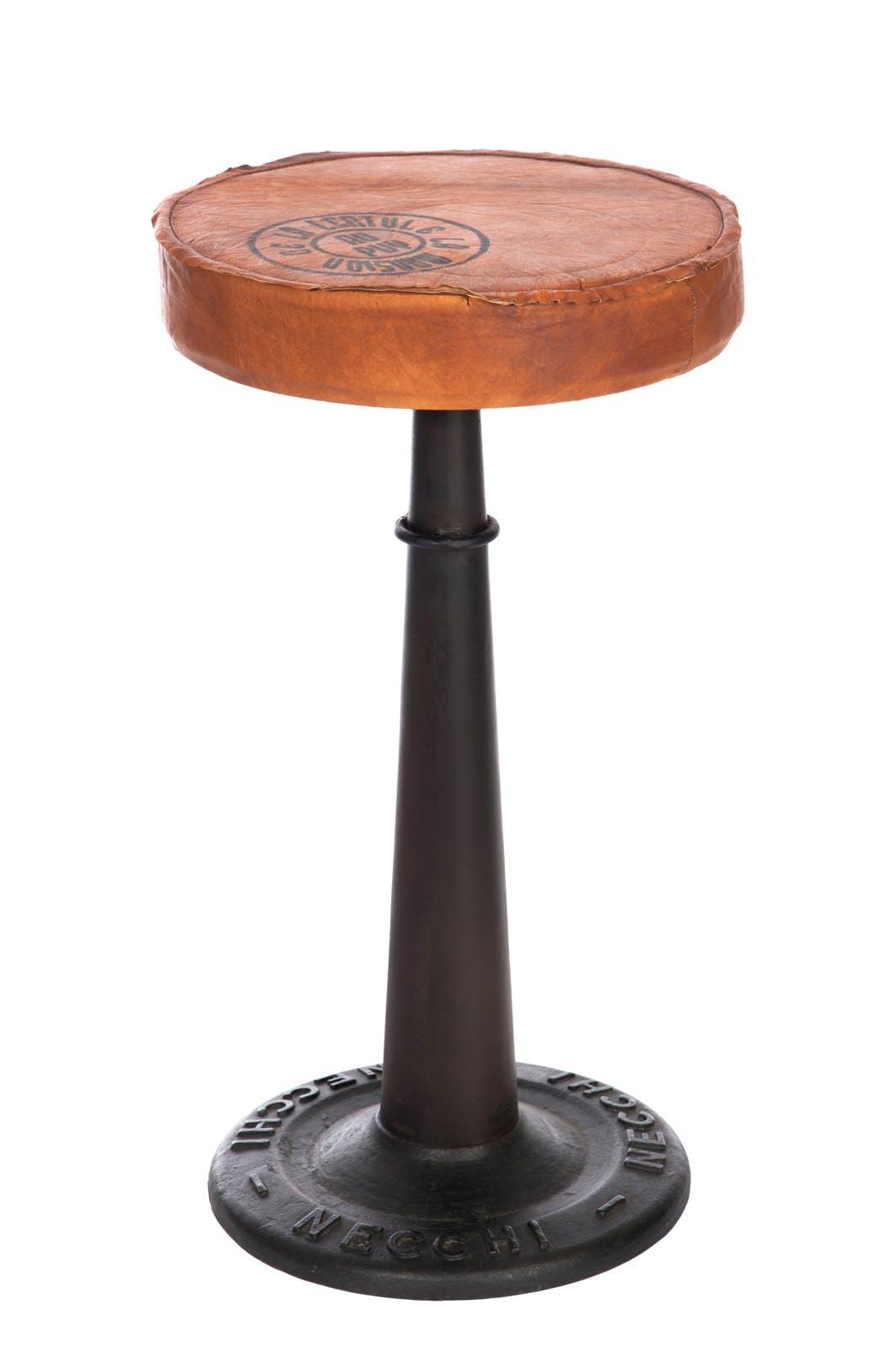 Tabouret de bar en cuir - H60cm FOREST