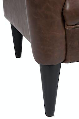 Fauteuil capitonné marron - 80x89x96cm