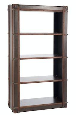 Etagère 4 niveaux bois brun - 102x42x182cm