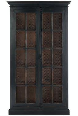Vaisselier 5 niveaux en bois d'orme noir - 110x45x195cm