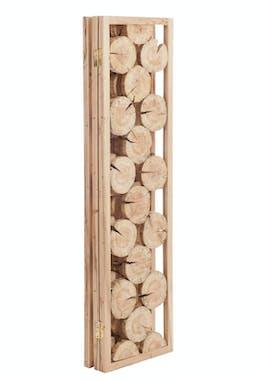 Paravent 3 volets en pin naturel - 50x186cm