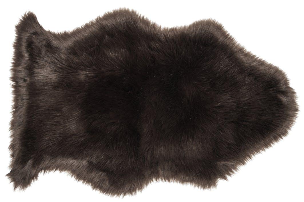 Tapis brun imitation fourrure 95x60cm