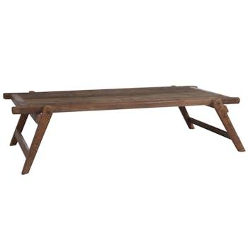 Table basse en bois style lit militaire 175x85cm FOREST