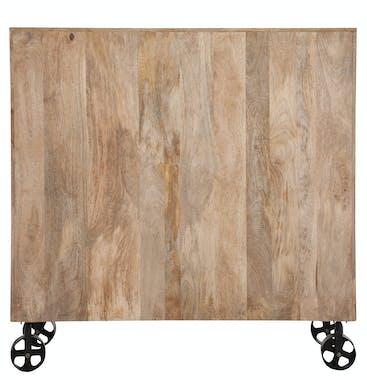 Commode grainetier 20 tiroirs bois manguier naturel L120cm FOREST