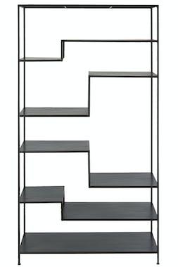 Etagère déstructurée 6 niveaux en métal noir 101x185cm ATELIER