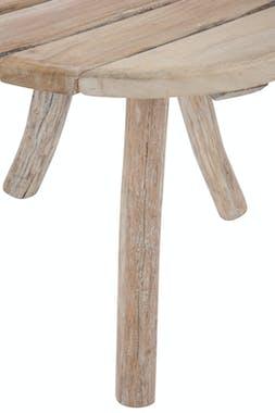 Table d'appoint ronde 3 pieds en bois naturel D75 H65cm