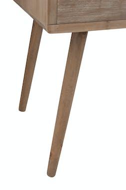 Bureau en bois naturel, 4 tiroirs 1 niche 110x50x77cm